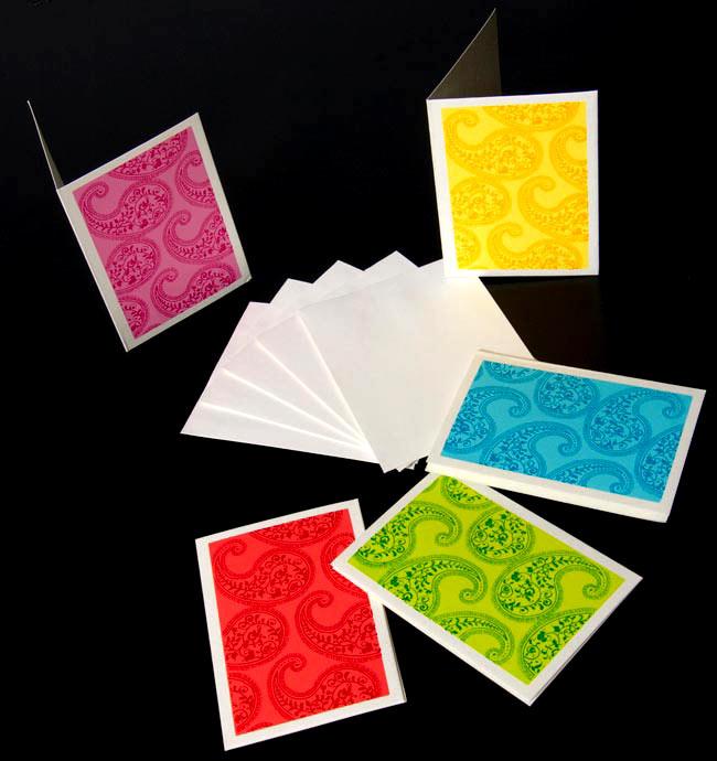 インドのメッセージカードセット - minal 2 - 色はアソートでお届けします。