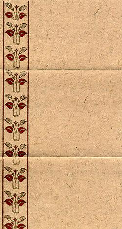 インドのレターセット - phulki(ID-LETTER-31)