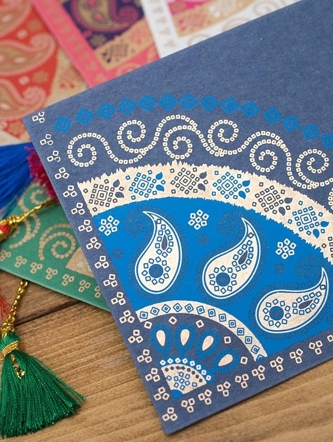 インドの封筒 - BANDHEJ 2 - 独特のデザインと、美しい金色のペインティングが魅力です。