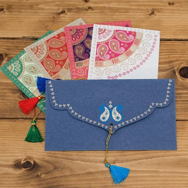 インドの封筒 - BANDHEJ 3 - 裏も表も可愛いです!