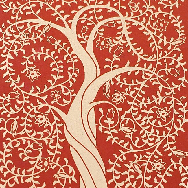 インドのメッセージカードセット No.3 2 - 生命力を感じる木が美しく描かれています!
