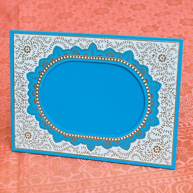 インドのフォトフレーム・シングル【Chimanlals】 2 - 横に置いてもご使用いただけます!