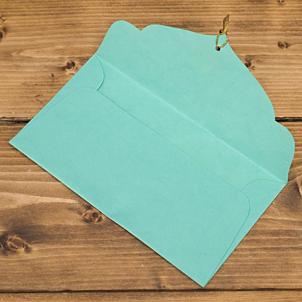 インドの封筒 -ARAADHYA 4 - 開くとシンプルですね^^