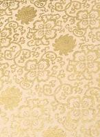 【75cmx50cm】ロクタ紙のラッピングペーパー3枚セット -白地に金・牡丹と吉祥柄
