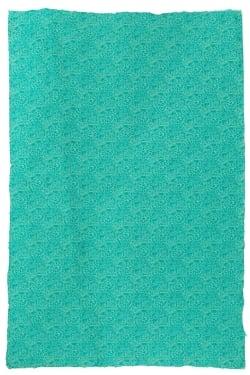 【インド品質】ロクタ紙のラッピングペーパー3枚セット -濃いエメラルド色地・花柄【75cmx50cm】