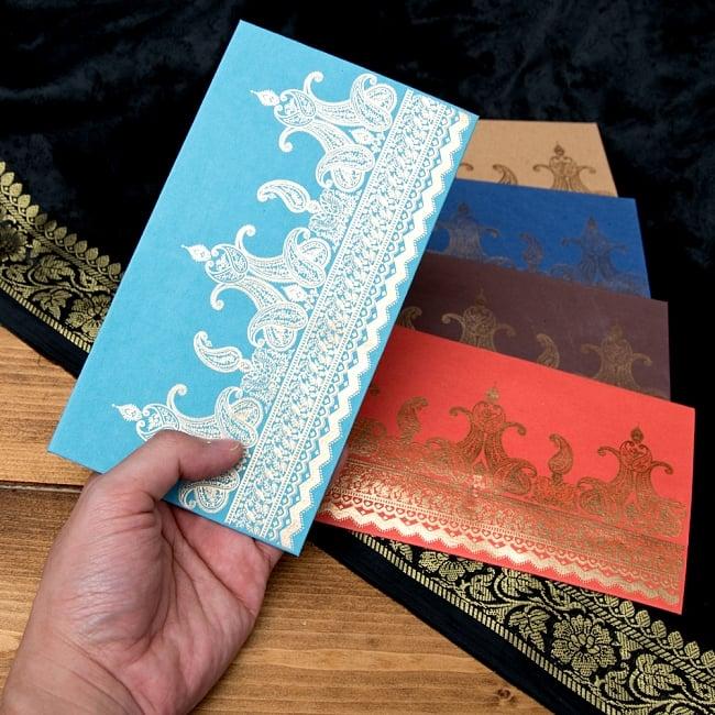 インドの封筒VASANT 5 - 手にとってみました!使いやすいサイズですね^^