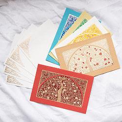 インドのメッセージカード&封筒5組セット - UPAVAN