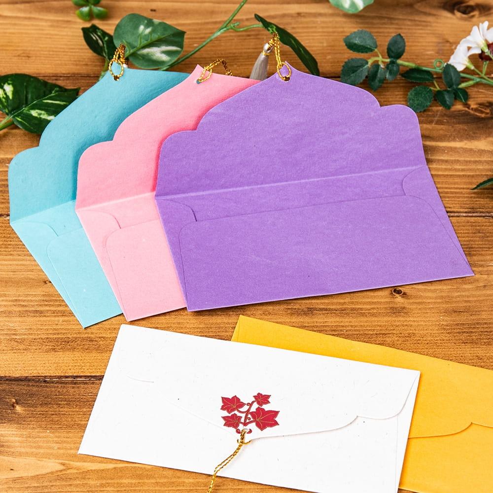 インドの封筒5枚セット - MADHUR 4 - 開いた面はシンプルになっています