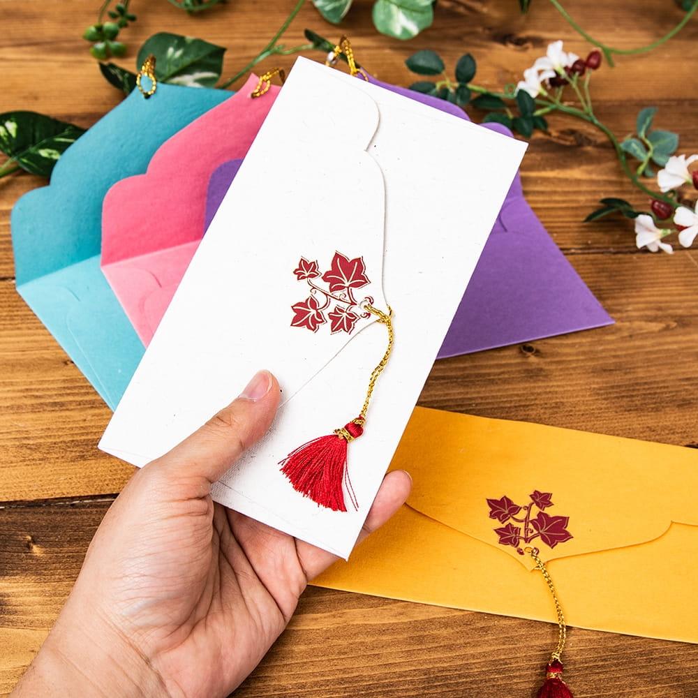 インドの封筒5枚セット - MADHUR 5 - 手にとってみました!使いやすいサイズですね