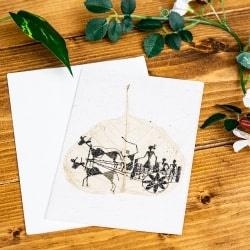 インドの押し葉メッセージカード&封筒セット - GREETING CARD