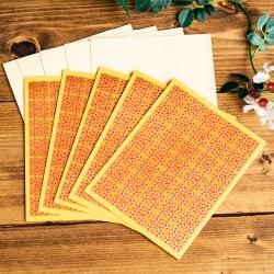 インドのメッセージカード&封筒5組セット - MISC STATIONERY