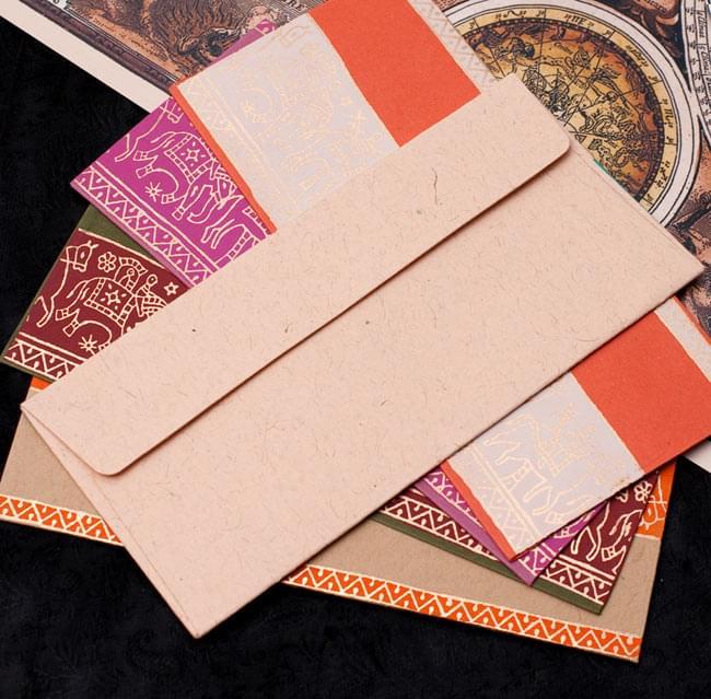 インドの封筒 - 象と駱駝 - URMIL 3 - 封筒裏面の写真です