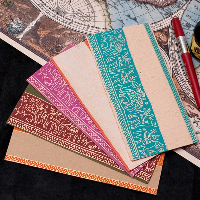 インドの封筒 - 象と駱駝 - URMILの写真
