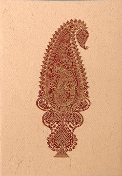 インドのメッセージカードセット - rajik(ID-LETTER-6)