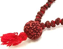 ルドラクシャ(菩提樹)の数珠 2 - アップで撮ってみました