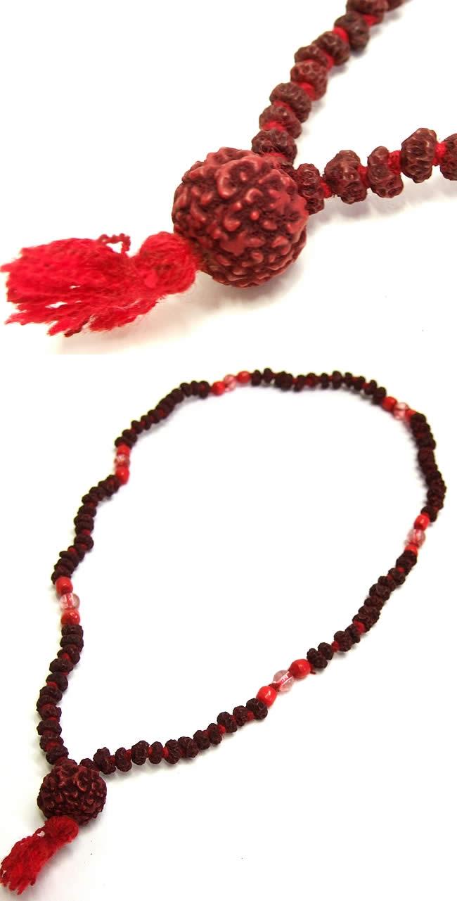 ルドラクシャ(菩提樹)の数珠の写真1