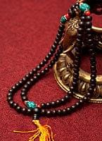 ネパールの数珠 - 木製(黒)