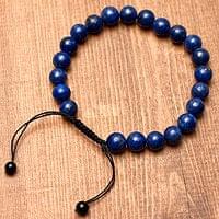 ネパールの数珠ブレスレット - ラピスラズリ