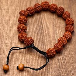 ネパールの数珠ブレスレット - ルドラクシャ