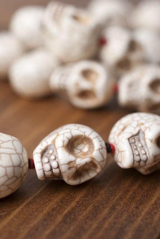 骸骨の数珠 - 小 7 - 重厚で存在感のある数珠です。