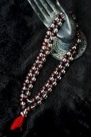 インドの数珠 - 水晶と紫光白檀