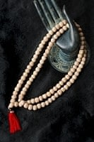 インドの数珠 - ホワイトチャンダン