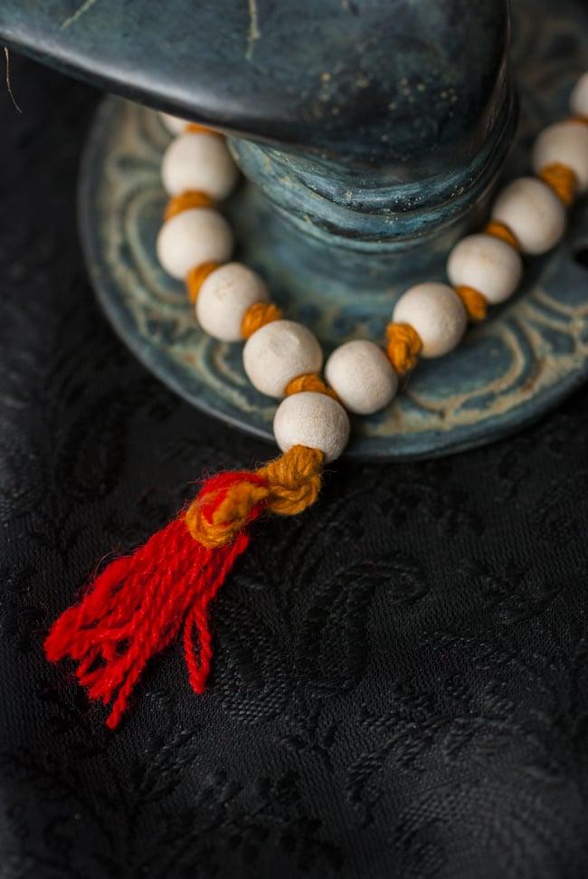 インドの数珠 - 橙 3 - 房の部分になります。