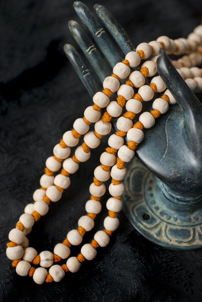 インドの数珠 - 橙 5 - 神々の住まう大陸を偲ばせる数珠です。