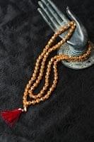 インドの数珠 - 小ルドラクシャと金細工(小)