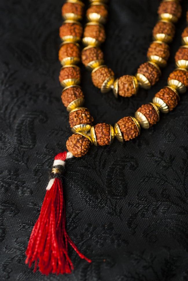 インドの数珠 - 小ルドラクシャと金細工(大) 3 - 房の部分になります。