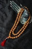 インドの数珠 - 小ルドラクシャと金細工(大)