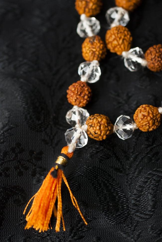 インドの数珠 - ルドラクシャとクリスタル 3 - 房の部分になります。