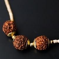 インドの数珠 - ルドラクシャの首数珠