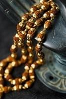 インドの数珠 - ルドラクシャのショートネックレス