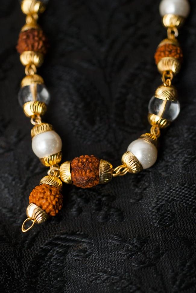 インドの数珠 - 真珠・水晶・菩提樹の写真3 - 房の部分になります。