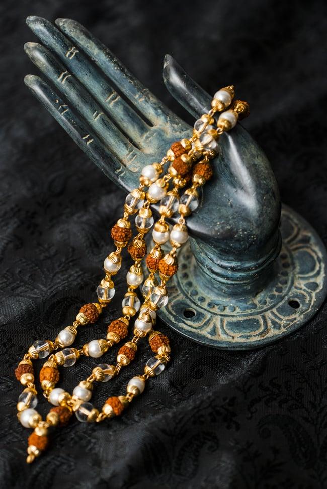 インドの数珠 - 真珠・水晶・菩提樹の写真