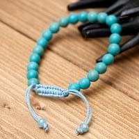 インドの数珠ブレスレット - ライトターコイズ