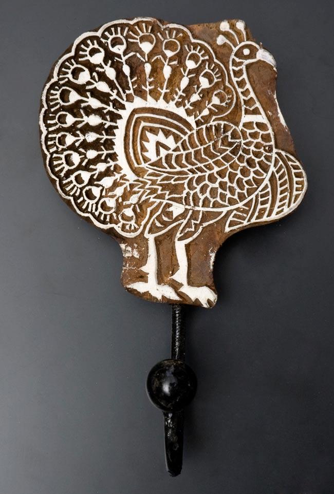 ウッドブロックハンガー【鳥】[19cm x 12cm]の写真