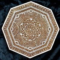 ランゴリ模様のウッドブロックスタンプ(鞠)-直径約15cm程度