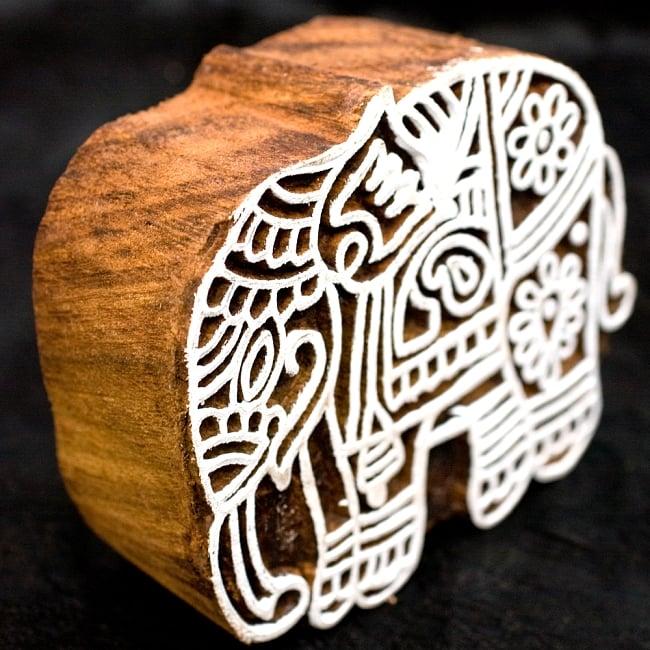 ウッドブロックスタンプ【象】約8×7.5cm 3 - このように厚く作られています、重厚感がすごいです