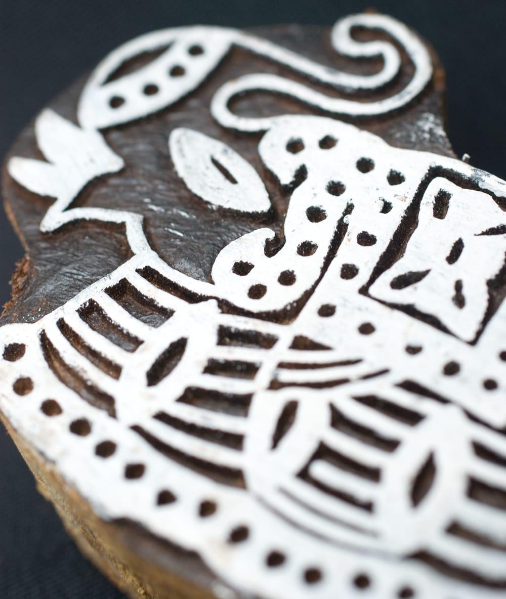象のウッドブロックスタンプ -約7cmx5cm 2 - 丁寧に彫り込まれています