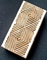 ウッドブロックスタンプ【幾何学】-約3.5cmx7.5cm