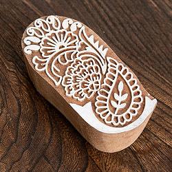 花のウッドブロック -約8cmx3.5cm