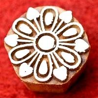 花びらのウッドブロックスタンプ -直径約4cm
