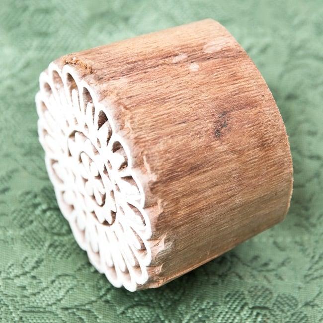 ウッドブロックスタンプ 約3×3cm 3 - 厚みがあります