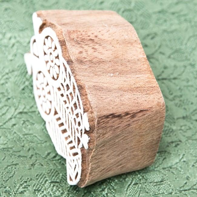 インド伝統の手彫りウッドブロックスタンプ5.5×4cm 3 - 厚みがあります
