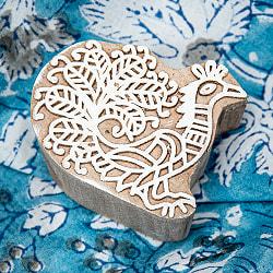 インド伝統の手彫りウッドブロックスタンプ7×7cm