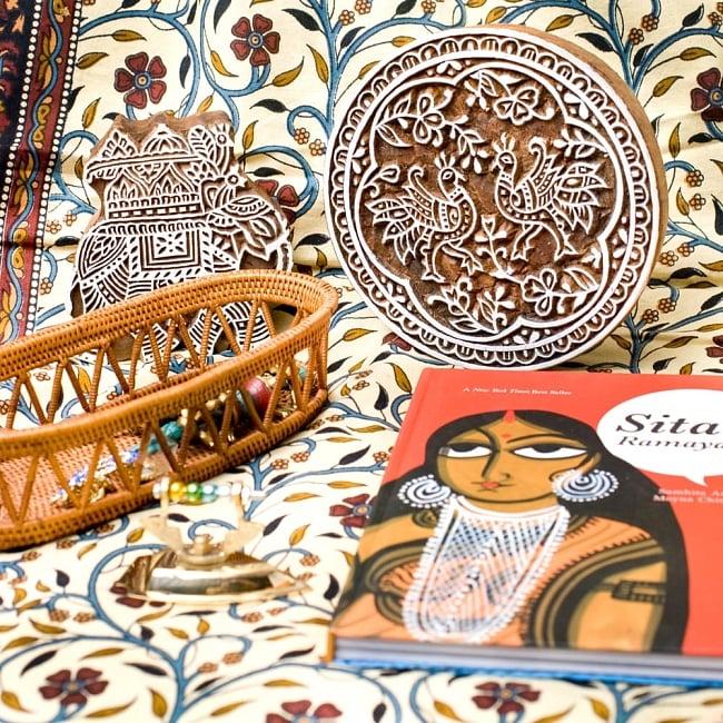 インド伝統の手彫りウッドブロックスタンプ7×5.5cm 5 - インテリアとして使ってみても非常に可愛いです