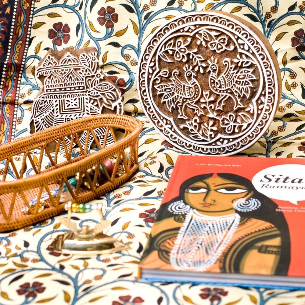 インド伝統の手彫りウッドブロックスタンプ7.5×4cm 5 - インテリアとして使ってみても非常に可愛いです