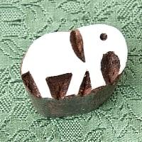 ウッドブロックスタンプ・ミニ【象】約4×3cm